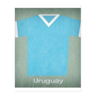 Retro Football Jersey Uruguay Postcard