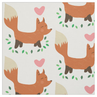 retro fox fabric