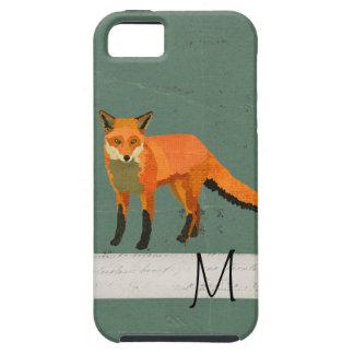 Retro Fox Monogram iPhone Case