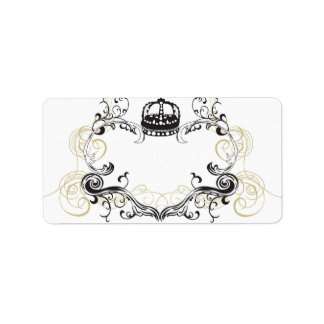 Retro frame Avery Label