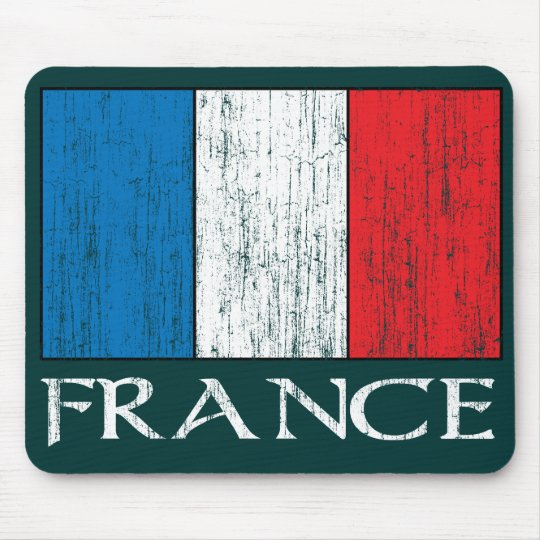 Retro France Flag mousepad