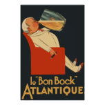 Retro French beer ad Le Bon Bock Poster