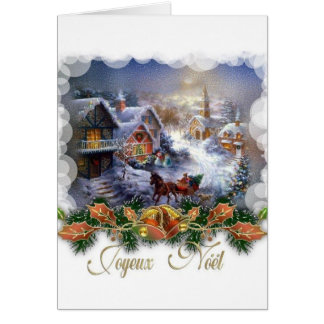 Retro French Joyeux Noel Christmas Card
