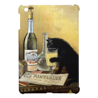 "Retro french poster ""absinthe bourgeois"" cover for the iPad mini"