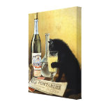 "Retro french poster ""absinthe bourgeois"" gallery wrapped canvas"