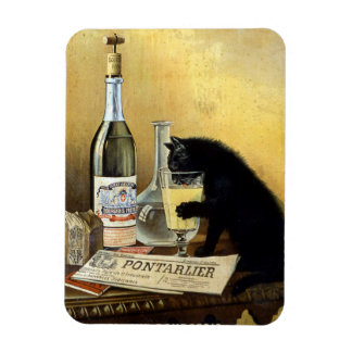 "Retro french poster ""absinthe bourgeois"" magnet"