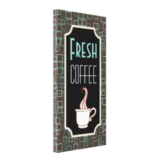 Retro Fresh Coffee Shop Wall Art Kitchen Sign Gift
