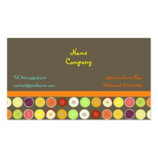 Retro fruit juice ~ ashbrown background business card