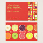 Retro fruits business card, raspberry background business card
