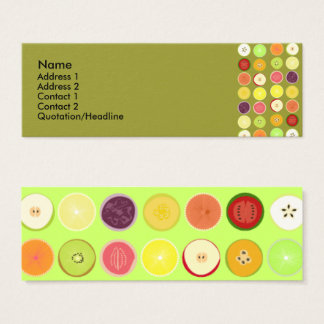 Retro fruits profile card