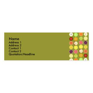 Retro fruits profile card business card