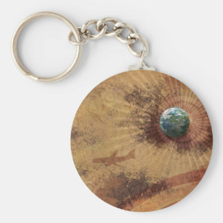 RETRO FULL GLOBE KEY RING