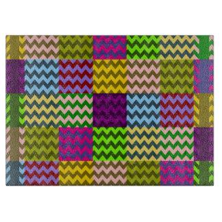 Retro Fun Colorful Chevron Pattern 6 Cutting Boards