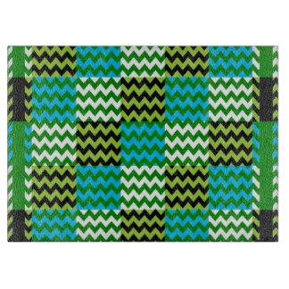 Retro Fun Colorful Chevron Pattern 8 Cutting Board