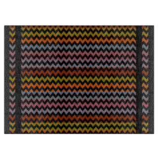 Retro Fun Colorful Chevron Pattern Cutting Boards