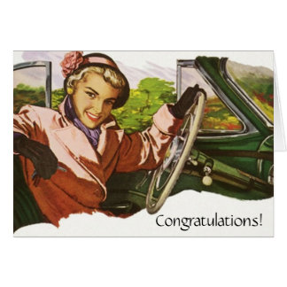 Retro Fun Congratulations Career Move new job Card