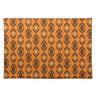Retro Fun Patterns Cloth Place Mat