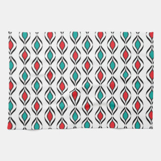Retro Fun Patterns Tea Towel