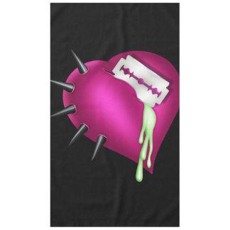 Retro Fun Zombie Pink Heart Tablecloth