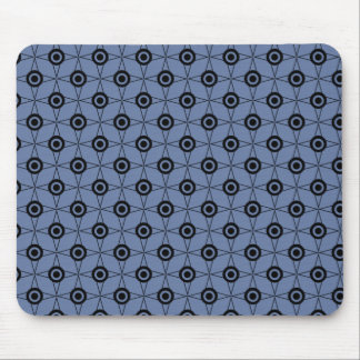 Retro Funk Geometric Mousepad, Soft Blue