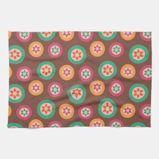 Retro Funky 70s Pattern Tea Towel