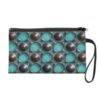 Retro Funky Abstract Art Wristlet Clutches