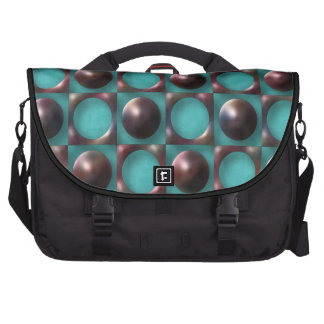 Retro Funky Abstract Art Laptop Commuter Bag