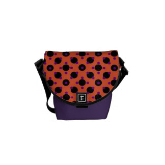 Retro Funky Abstract Pattern Messenger Bag
