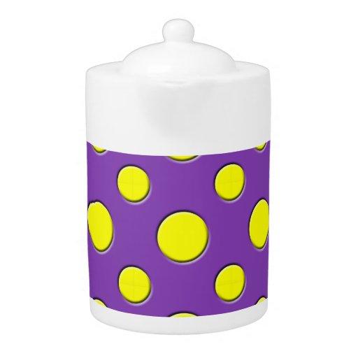 Retro Funky Fun Yellow & Purple Polka Dots