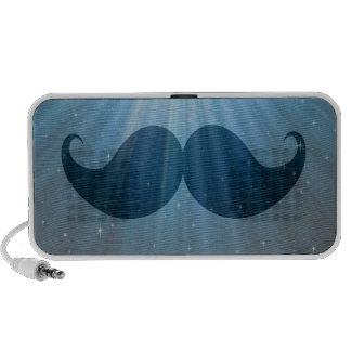 Retro Funky Mustache Moustache Stache Mp3 Speakers