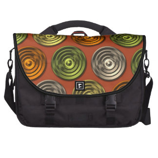 Retro Funky Orange Abstract Pattern Bag For Laptop