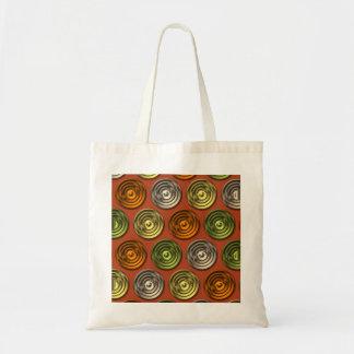 Retro Funky Orange Abstract Pattern Bag