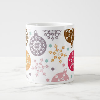 Retro Funky Vintage Snowflake Ornament Gifts Extra Large Mugs