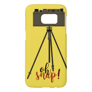 Retro Funny Cartoon Camera Yellow