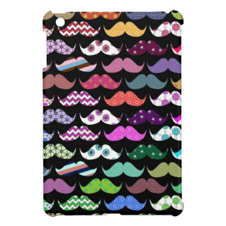 Retro Funny Girly Mustache Moustache Pattern Case For The iPad Mini