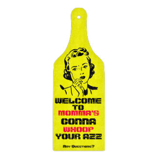 Retro Funny MOMMA'S gonna.. Paddle Cutting Board