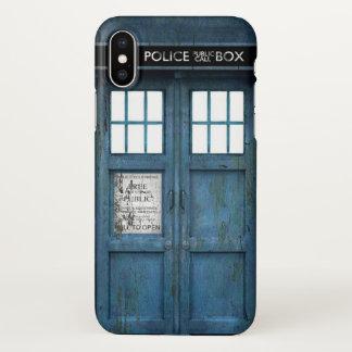 Retro Funny Police Phone Call Box iPhone X Case