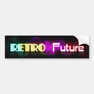 Retro Future Glow Letters Bumper Sticker
