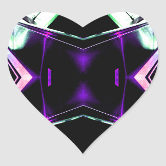 Retro Futurism Space Age Fantasy - CricketDiane Heart Sticker