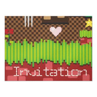 Retro Game 17 Cm X 22 Cm Invitation Card