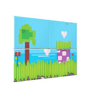 Retro Game Canvas Print