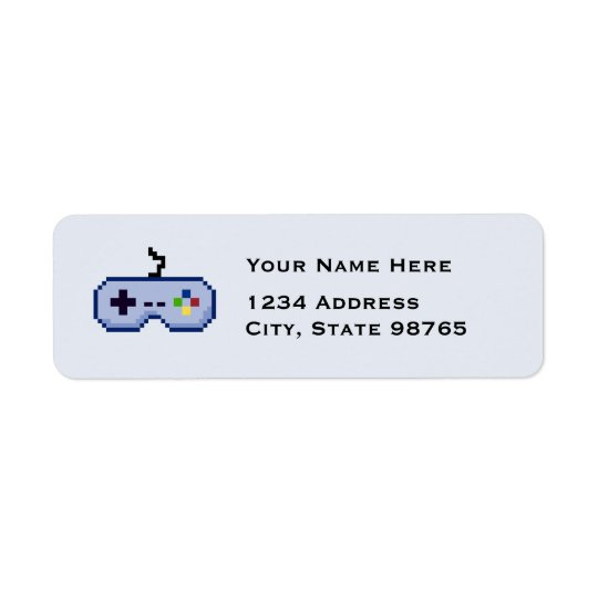Retro Game Controller Return Blue Address Labels
