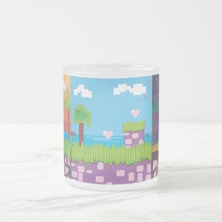 Retro Game - Tropical Beach 10 Oz Frosted Glass Coffee Mug
