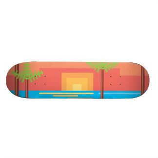 Retro Game - Tropical Sunset Skate Deck