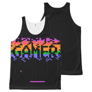 Retro Gamer All-Over Print Tank Top