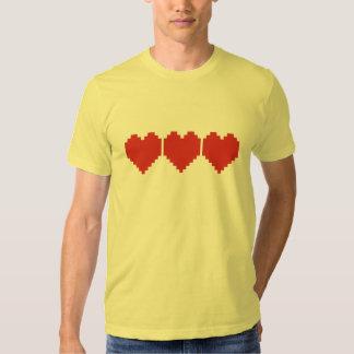 Retro Gaming Hearts T Shirt