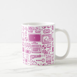 Retro Gaming Mug: Choose Your Weapon Pink Coffee Mug