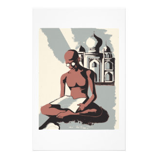 Retro Gandhi Art Custom Stationery