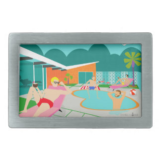 Retro Gay Pool Party Belt Buckle