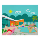 Retro Gay Pool Party Poster
